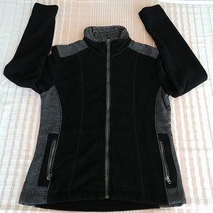 Kuhl Black & Gray Alfpaca Fleece Full Zip Size M